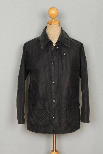 BARBOUR Bedale WAXED Jacket Navy Size 34 Small
